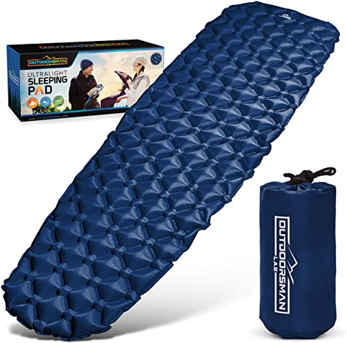 Outdoorsman Lab Sleeping Pad for Camping -Best Compact Inflatable Air Mattress for Adults & Kids