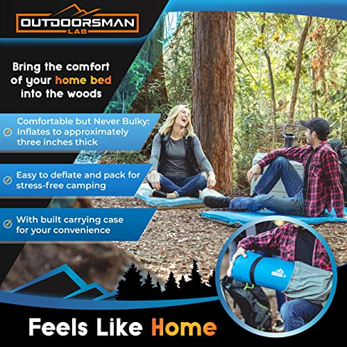 Outdoorsman Lab Self Inflating Sleeping Pad for Camping