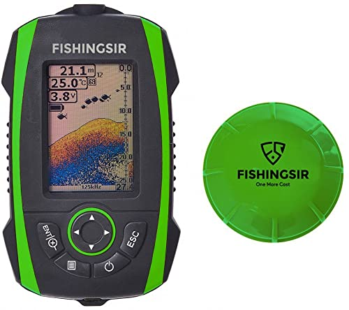 Wireless Portable Fish Finder Fishfinder with Sonar Sensor Transducer and 100M LCD colors Display