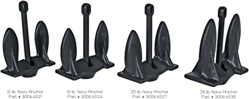 Extreme Max 3006.6527 BoatTector 20 lbs Vinyl-Coated Navy Anchor