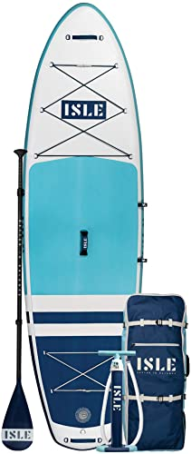 ISLE Airtech Inflatable 10′ All Around Stand Up Paddle Board
