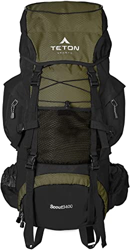 TETON Sports Scout 3400 Internal Frame Backpack for Hiking