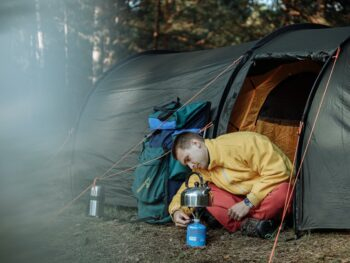 How to go camping in bad weather?